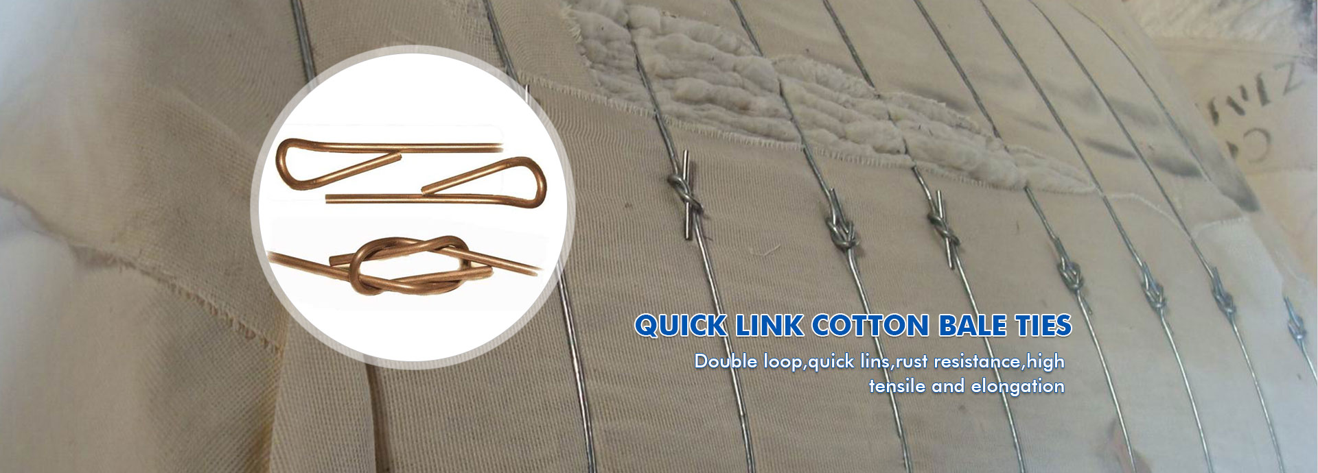 Quick Link Cotton Bale Ties