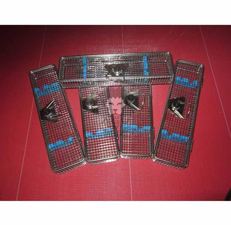 Endoscope Instrument Sterilization Basket with Silicone Racks