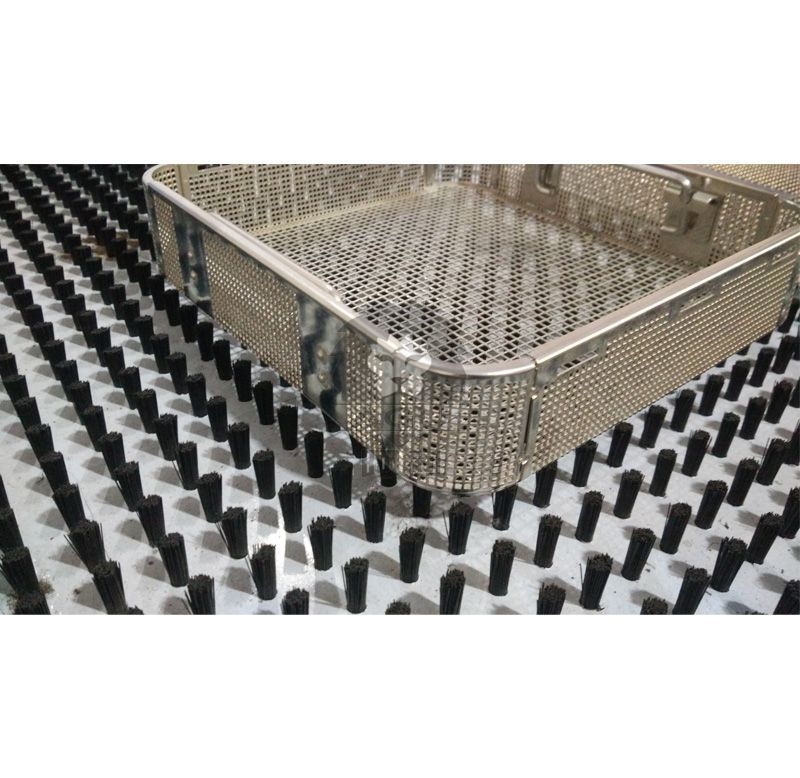 Square Hole Perforated Basket with drop handles