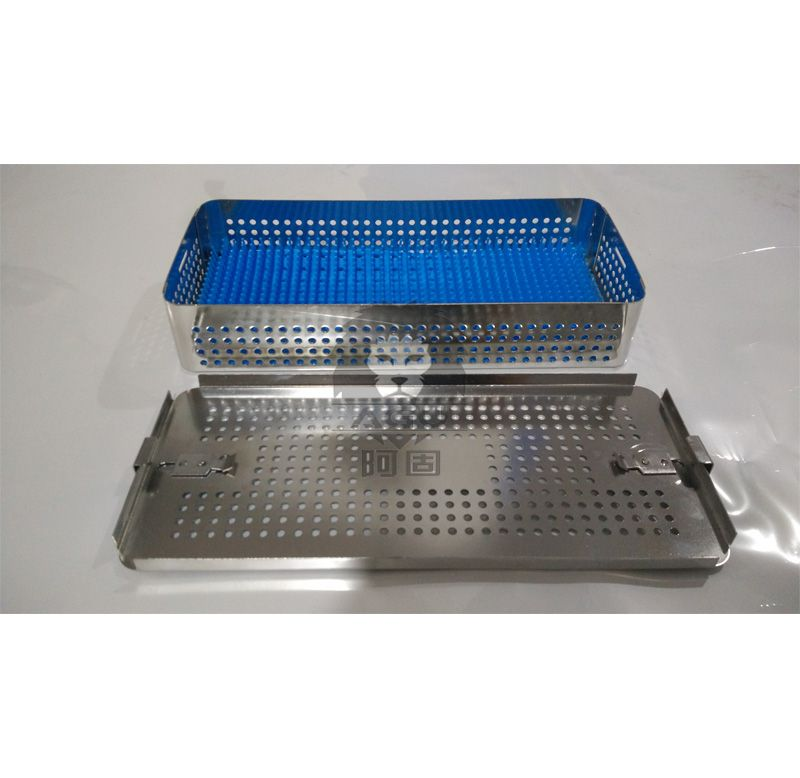 Instrument Sterilization Basket with Silicone Mats