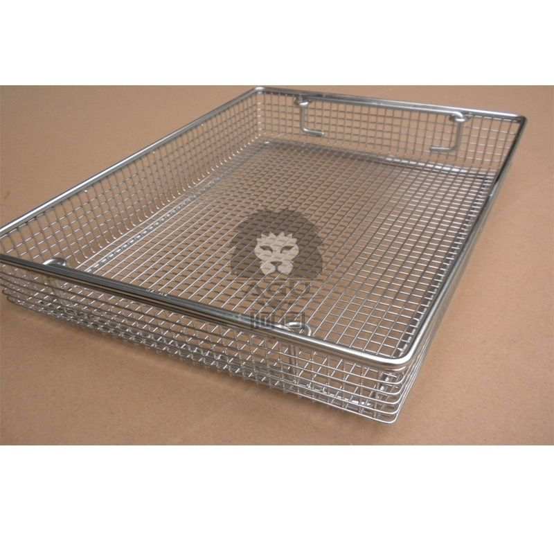 Stainless Steel Wire Basket With Drop Handle